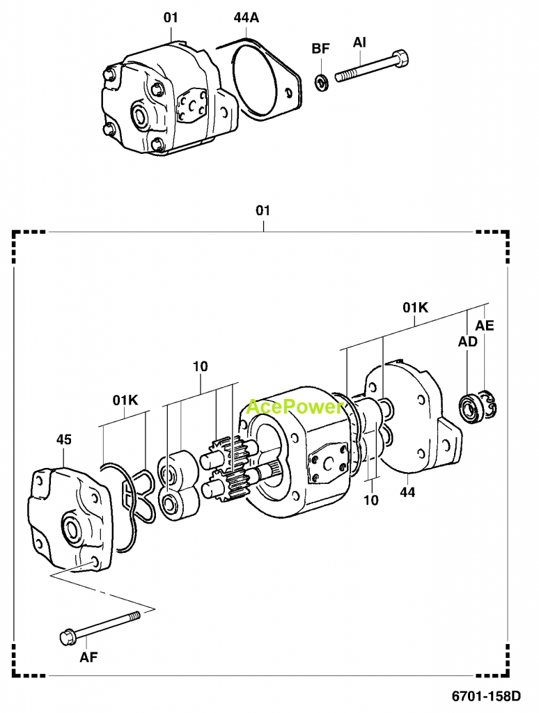 Toyota Forklift Parts Hydraulic Pump 67130 40920 71 Diagram Reviews